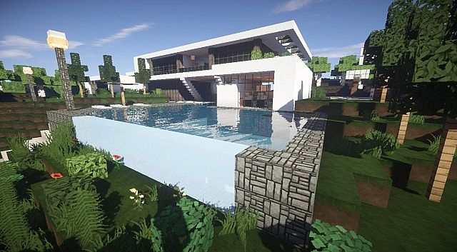 Aspire modern beach house 2 minecraft house design for Modern house construction