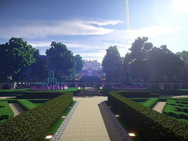 Snows Mansion minecraft building ideas house huge amazing garden