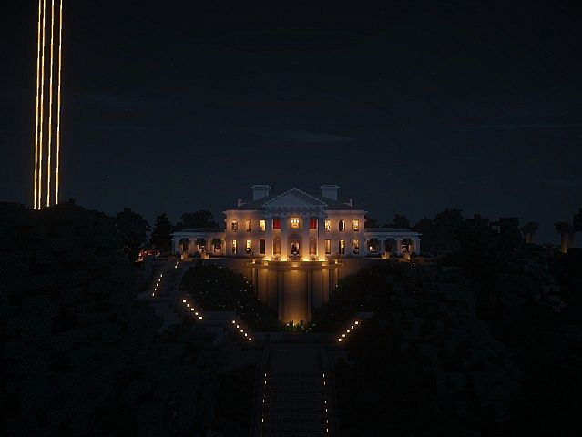 Snows Mansion minecraft building ideas house huge amazing night front