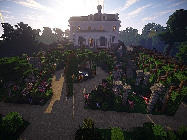 Snows Mansion minecraft building ideas house huge amazing sideview 2
