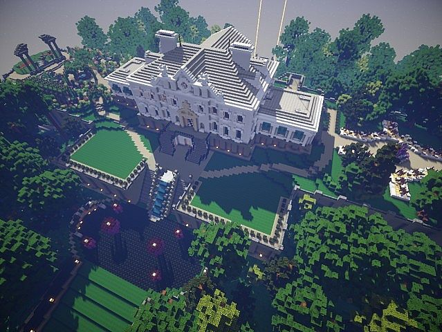 Snows mansion minecraft house design for Big amazing houses