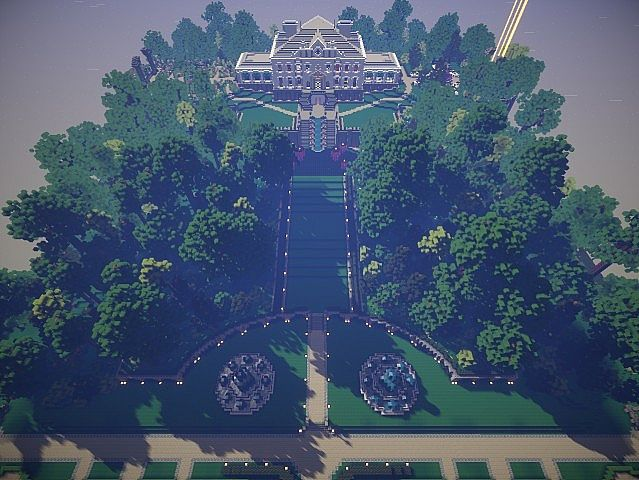 Snows Mansion minecraft building ideas house huge amazing trees