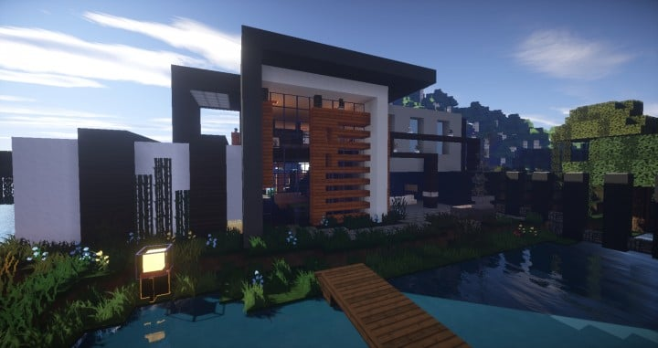 Clane modern house minecraft house design for Amazing modern houses