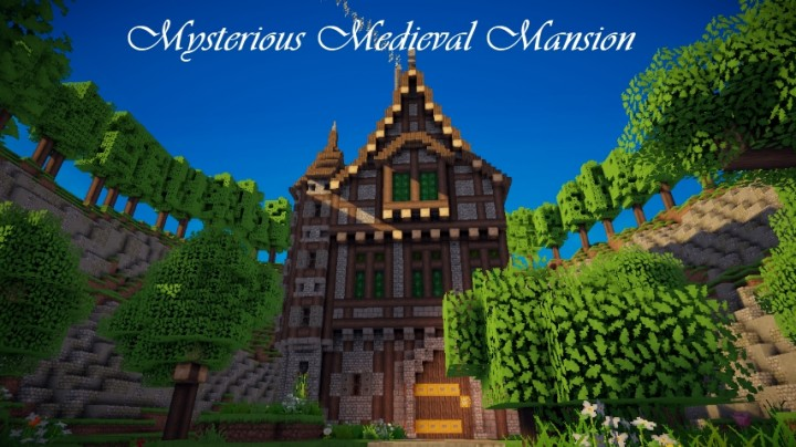 Mysterious Medieval Mansion minecraft building ideas house