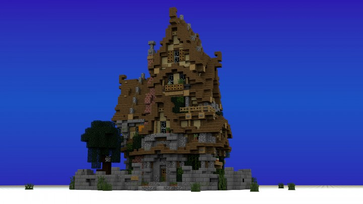 Two Story Medieval House awesome sweet old 2