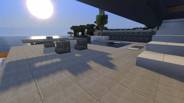 Allure contemporary home minecrft house building pool beautiful 10