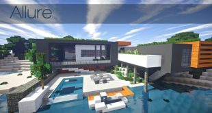 Allure contemporary home minecrft house building pool beautiful