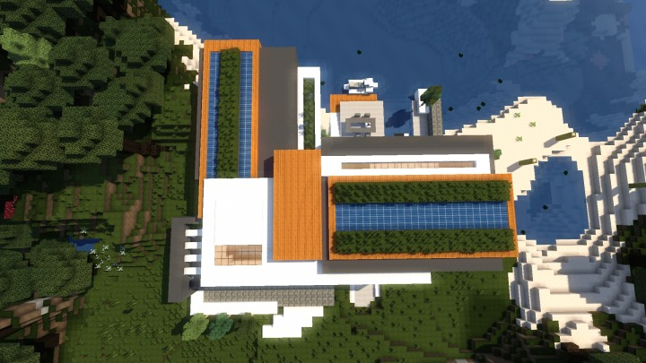 Allure contemporary home minecrft house building pool beautiful 4