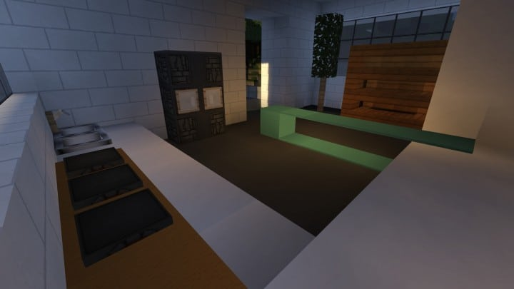 Allure contemporary home minecrft house building pool beautiful 7