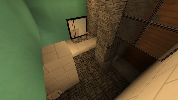 Allure contemporary home minecrft house building pool beautiful 8