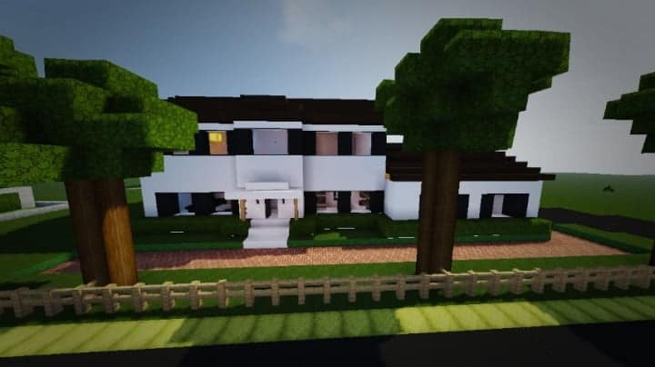 TheModern Pvper's Modern House 1 minecraft building home ideas small 10