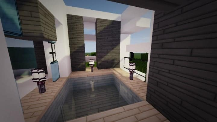 Themodern pvper s modern house minecraft house design for Modern house interior design minecraft