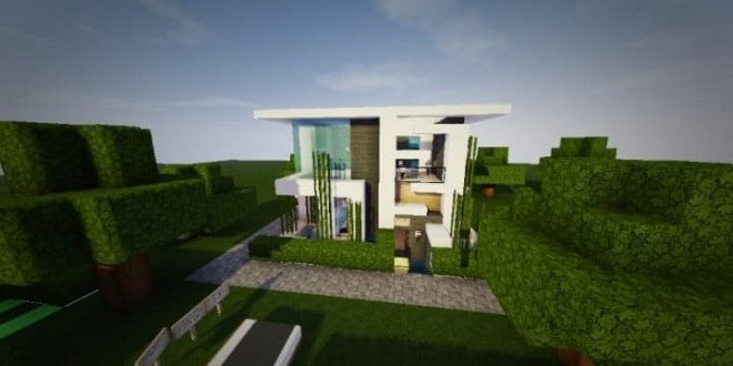 minecraft how to build a small modern house 13
