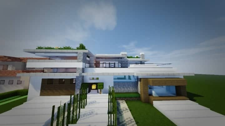 TheModern Pvper's Modern House 1 minecraft building home ideas small 8