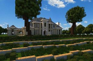 French Country Manor 3 minecraft house ideas design download