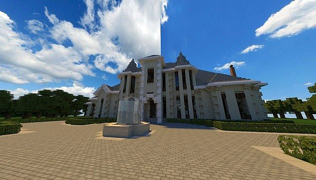 French Country Manor 3 minecraft house ideas design download 4