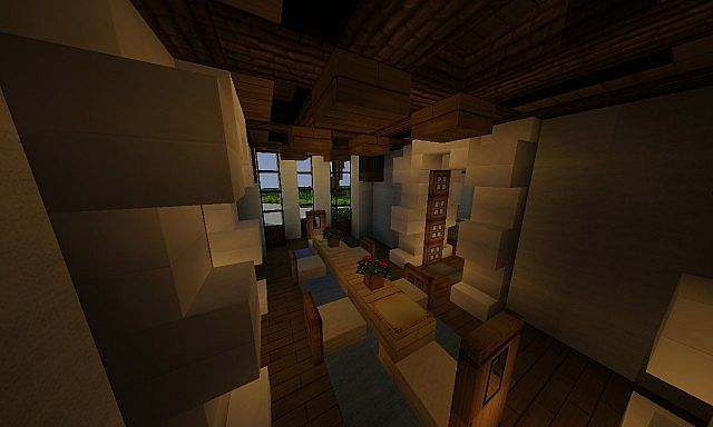 French country manor minecraft house design for Dining room designs minecraft
