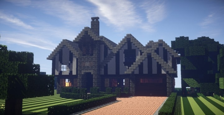 Tudor Mansion minecraft house building ideas download home 2