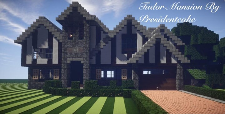 Tudor Mansion Minecraft House Design