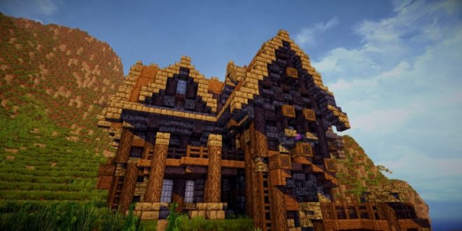 A Survival Home In The Town Minecraft House Design