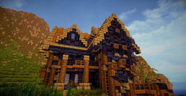 a survival home in the town minecraft house design - Minecraft Design Ideas