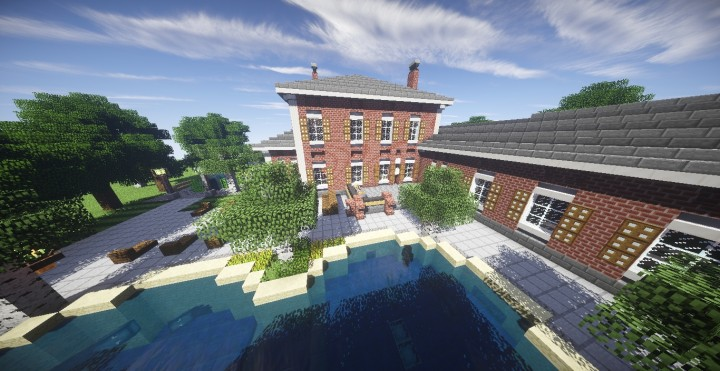 Georgian Estate 2 Minecraft building house home country old 03