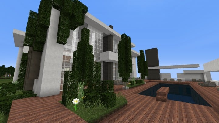 The Dogme minecraft modern house home pool download minimalistic 3