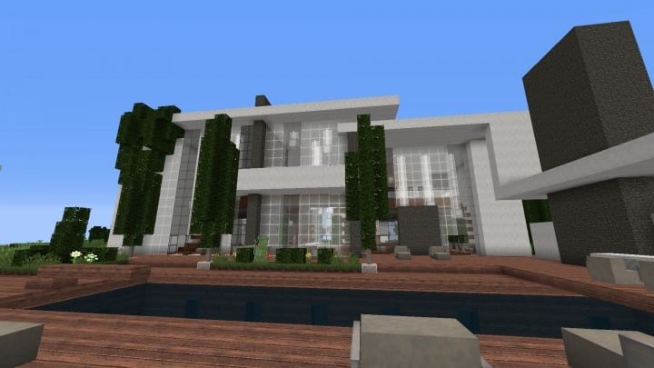 The Dogme minecraft modern house home pool download minimalistic 5