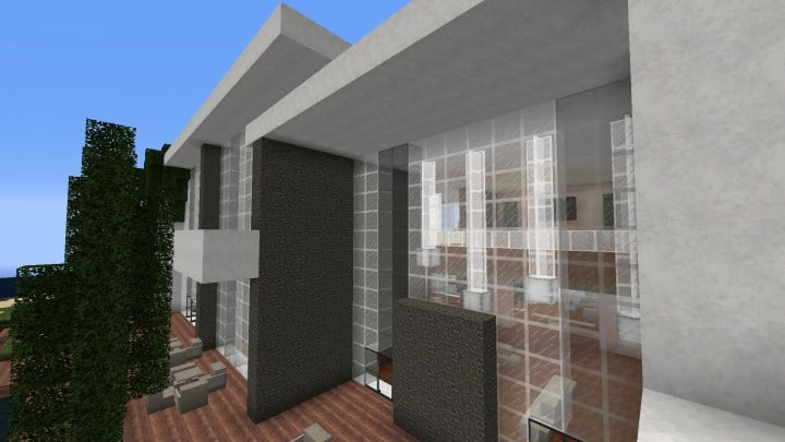 The Dogme minecraft modern house home pool download minimalistic 6