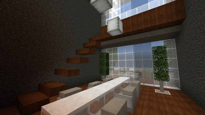 The Dogme minecraft modern house home pool download minimalistic 9
