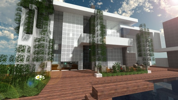 The Dogme minecraft modern house home pool download minimalistic