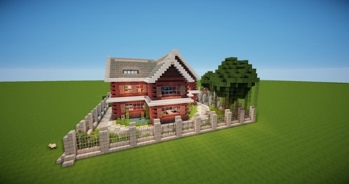 Traditional House brick country minecraft building ideas download 3