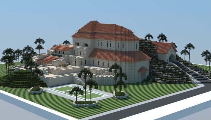 Sandstone mansion minecraft house design - Minecraft house ideas ...