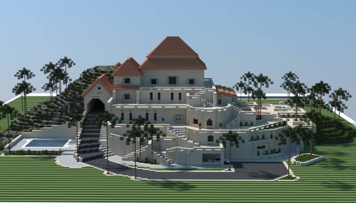 sandstone mansion minecraft building ideas download plaza fancy huge amazing