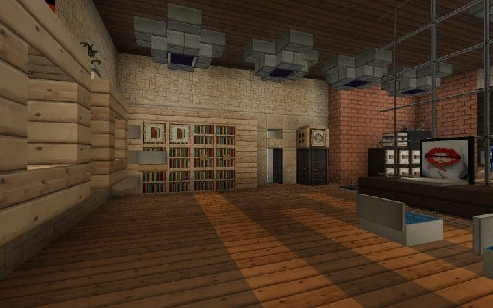 Large Suburban House minecraft building amazing idea download 12