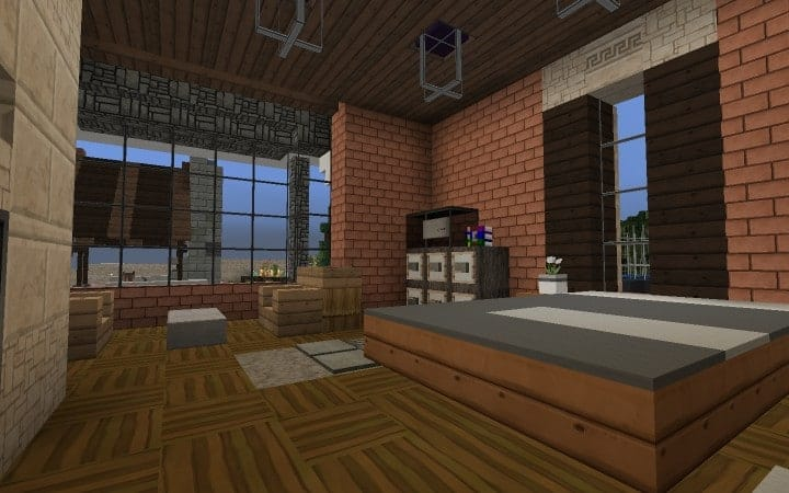 Large Suburban House minecraft building amazing idea download 14