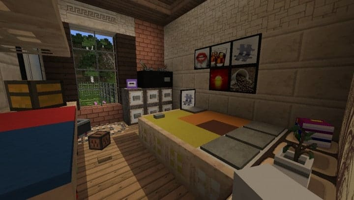 Large Suburban House minecraft building amazing idea download 16