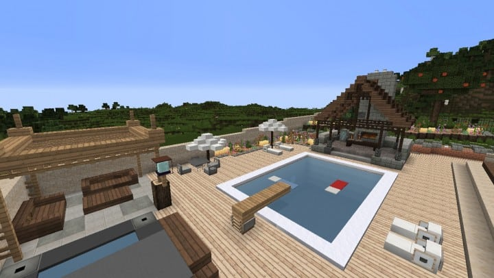 Large Suburban House minecraft building amazing idea download 4
