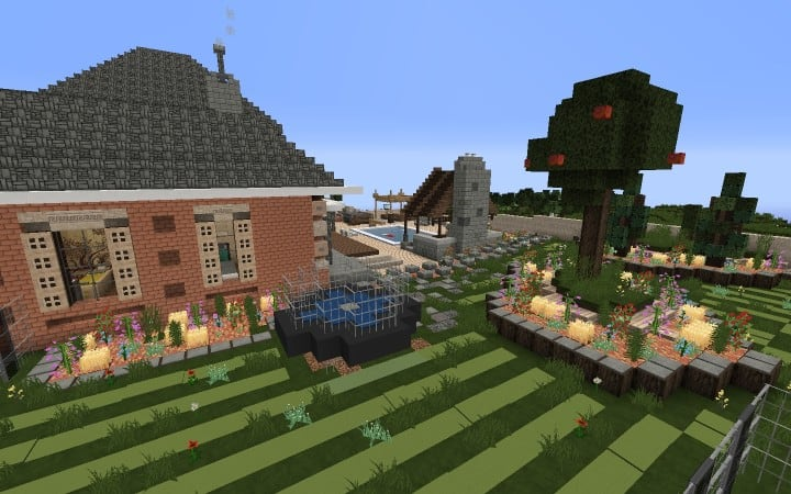 Large Suburban House minecraft building amazing idea download 5