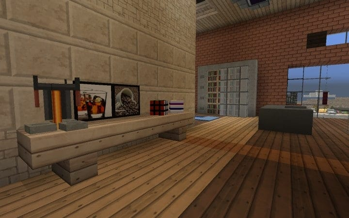 Large Suburban House minecraft building amazing idea download 7