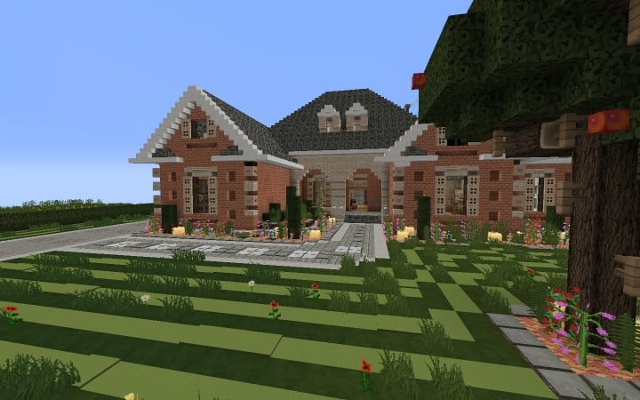 Large Suburban House minecraft building amazing idea download