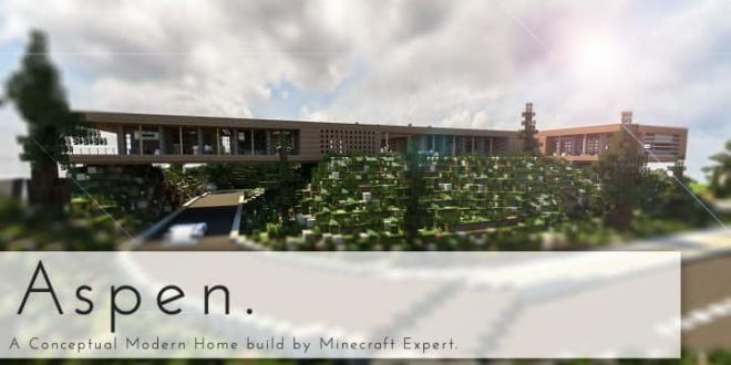Aspen - A modern conceptual house built by MCE minecraft building expert idea