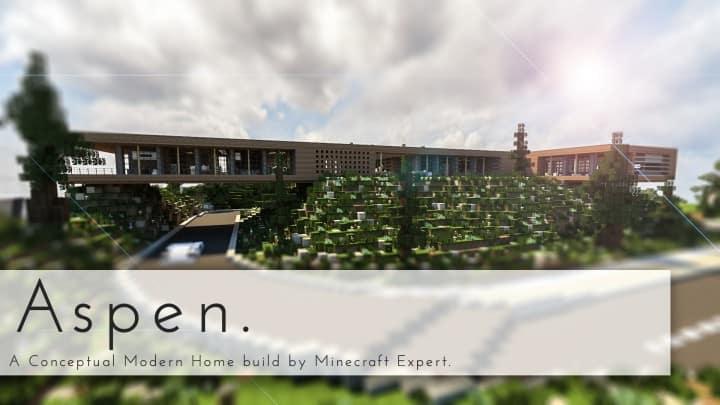 Aspen - A modern conceptual house built by MCE minecraft building expert idea