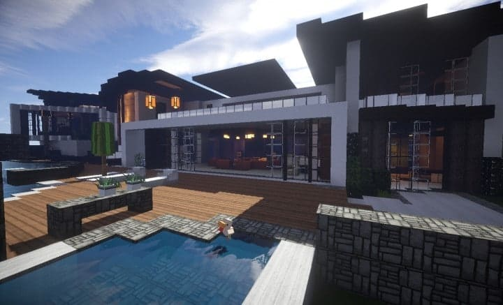 Image gallery huge modern house for Huge modern mansion