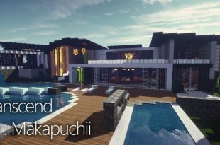 Luxury mansion minecraft house design for Minecraft big modern house schematic
