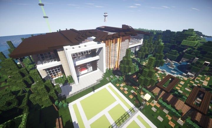 Trascend Modern House minecraftr inspiration mansion huge home download 4