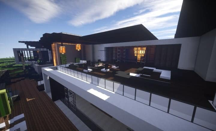 Trascend Modern House minecraftr inspiration mansion huge home download 6
