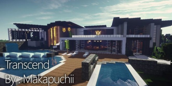 Trascend modern house minecraft house design for Big modern house tutorial