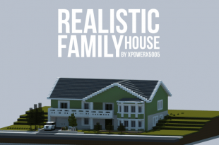 realistic family house - Minecraft Home Designs