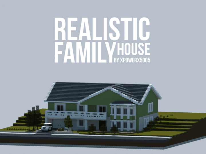 Realistic family house minecraft house design for How much can i save building my own house